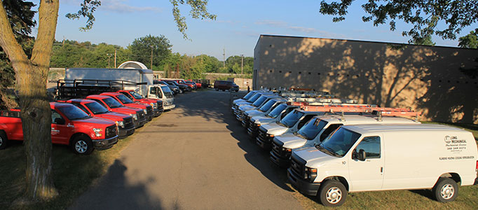 Long Plumbing Service Vehicles Fleet