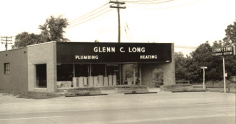 historic photo of Glenn C. Long building exterior